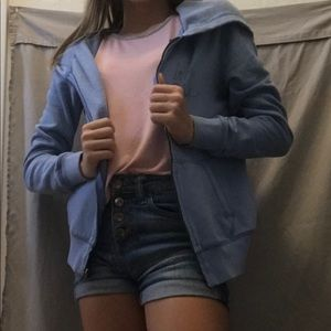XS woman's pink Victoria's Secret blue jacket